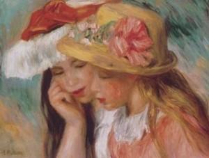 """Duas irmãs"" de Pierre-Auguste Renoir"