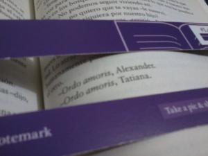 """Trecho do livro """"the summer garden"""" em espanhol."""